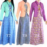 Ulasan Lengkap Dua Melati Gamis Terusan Hijab Batik Pastel Long Dress Lt4