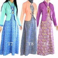 Dua Melati Gamis Terusan Hijab Batik Pastel Long Dress LT4
