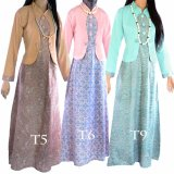 Cuci Gudang Dua Melati Gamis Terusan Hijab Batik Pastel Long Dress Lt6