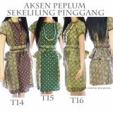 Spesifikasi Dua Melati Terusan Dress Batik Modern Pinggang Peplum Lt14 Bagus
