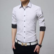 Spesifikasi Duncan Kemeja Pria Katun Stretch Putih Kemeja