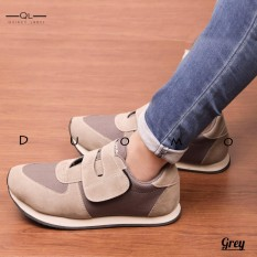 Spesifikasi Duomo Joey Sneakers Women Grey Lengkap Dengan Harga