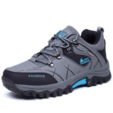 Tahan Lama Pria Daki Gunung Sepatu Gunung Pendakian Sepatu Trekking Sepatu Olahraga Luar Ruangan W2471A-Internasional