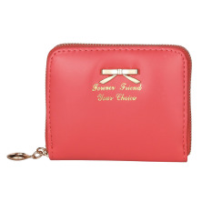 Ulasan Lengkap Tentang Tahan Lama Wanita Fashion Tas Dompet Wanita Kulit Imitasi Mini Pemegang Kartu Tas Tangan Semangka Merah