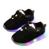 Jual Cepat Eachgo Anak Anak Unisex Casual Sepatu Dipimpin Lampu Up Luminous Anak Pelatih Olahraga Kets Hitam Intl