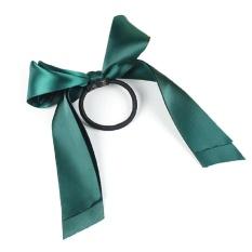 Eachgo Indah Ikatan Simpul Elastis Pita Rambut untuk Wanita Wanita Bowknot  Hair Rope (Dark Green ee46fece1f