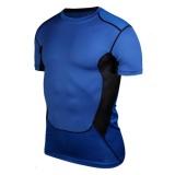 Beli Eachgo Pria Kebugaran Tights Cepat Kering Camo Sport T Shirt Menjalankan Tops Tees Cross Mini Shirt Biru Intl Pake Kartu Kredit