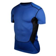 Harga Eachgo Pria Kebugaran Tights Cepat Kering Camo Sport T Shirt Menjalankan Tops Tees Cross Mini Shirt Biru Intl Eachgo Terbaik