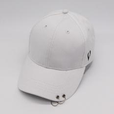 Toko Eachgo Men Women Boys Girls Hip Hop Baseball Cap Dance Hat With Rings White Intl Lengkap