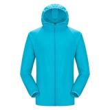 Harga Eachgo Pria Wanita Olahraga Cepat Kering Rain Coat Hiking Travel Tahan Air Jaket Tahan Angin Kolam Pecinta Coat Biru Muda Intl Satu Set
