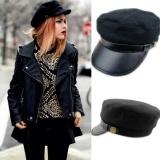 Jual Eachgo Unisex Fashion All Match Leather Edge Sailor Cap Military Hats Autumn Winter Intl Branded
