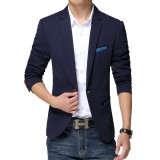 Model East Blue Jas Casual New Arrival Navy Terbaru