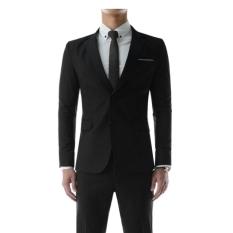 Toko East Blue Jas Pria Desain Slim Fit Hitam Lengkap