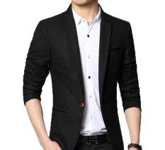 Jual East Blue Jas Pria Premium Single Button Black Strip Hitam Murah Di Yogyakarta