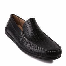 Ecco Perforated Classic Moccasins 2.0 - Sepatu Pria - Hitam
