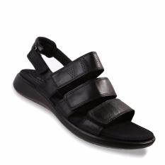 Ecco Soft 5 3 Strap - Sandal Wanita - Hitam