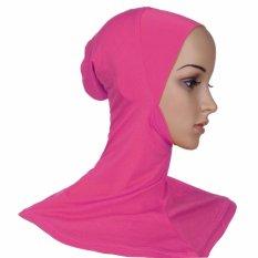 Ramah Lingkungan Gaya Klasik Di Bawah Scarf Chin Mengurangi Hat Jilbab Wanita Muslim Lslamic Kepala Memakai Leher Naik Merah-Internasional