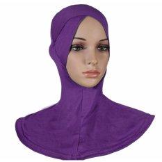 Ramah Lingkungan Gaya Klasik Di Bawah Scarf Kanan Memiliki Berpotongan Hat Muslim Wanita Jilbab Islam Kepala Memakai Leher Ungu-Intl