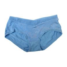 Eelic 6849 Celana Dalam Wanita Warna Biru Desain Tile Strech Emboss