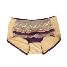 Eelic 8132 Celana Dalam Wanita, Warna Cream, Motif Renda Lace Cantik Serat Bambu