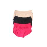 Jual Cepat Eelic 9962 Celana Dalam Wanita 3Pcs Warna Cream Hitam Dan Pink Desain Renda Halus Warna Polos Nyaman Dipakai