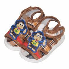 EELIC BAY-SEP6 COKLAT Sepatu Bayi Prewalker Monkey Oke