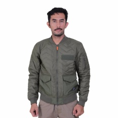 Eiger 1989 Jaket Pria The Bombers - Olive