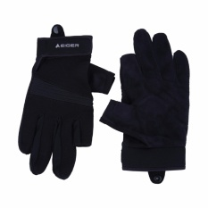 Harga Eiger Daily Riding Glove Combine Black Merk Eiger