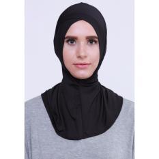 EL Ciput Hijab Antem Silang  ( Anti Tembem ) - Ciput Kerudung Ciput Ninja Daleman Kerudung Inner Kerudung Kerpus Modern Ciput Ninja Antem Kancing Inner Hijab Aksesoris Perlengkapan Berhijab - Black