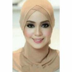 EL Ciput Hijab Antem Silang  ( Anti Tembem ) - Ciput Kerudung Ciput Ninja Daleman Kerudung Inner Kerudung Kerpus Modern Ciput Ninja Antem Kancing Inner Hijab Aksesoris Perlengkapan Berhijab - Cream