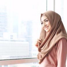 El Hijab Instan - Kerudung Jilbab Instan Fashion Muslim Scarf Khimar Hijab Jilbab Instan Syari Khimar Polos Pashmina Polos Hijab Modern Hijab Kekinian Khimar Instan - Brown