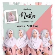 El Hijab Pastan Naila 4in1 Instan - Kerudung Jilbab Instan Fashion Muslim Scarf Khimar Hijab Jilbab Instan Syari Khimar Polos Pashmina Polos Hijab Modern Hijab Kekinian Khimar Instan - Soft Pink