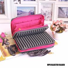 EL PIAZA HPO Wallet Blaster Black - Dompet Multifungsi Serbaguna Clutch Bag - Sling Bag Tas Genggam  Tas Slempang Tas Bahu Modis Dompet Lucu Dompet Unik Dompet Keren HPO Wanita Super Best Seller Dompet Serbaguna - Blaster Black
