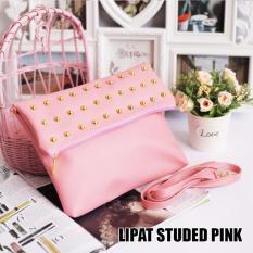 EL PIAZA Lipat Studded Pink Bag Clutch Bag - Sling Bag Wanita- Sling Bag Tas