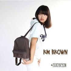 Toko El Piaza Mini Ransel Backpacks Kanvas Sling Bag Tas Ransel Wanita Tas Modis Wanita Brown Murah Di Jawa Timur