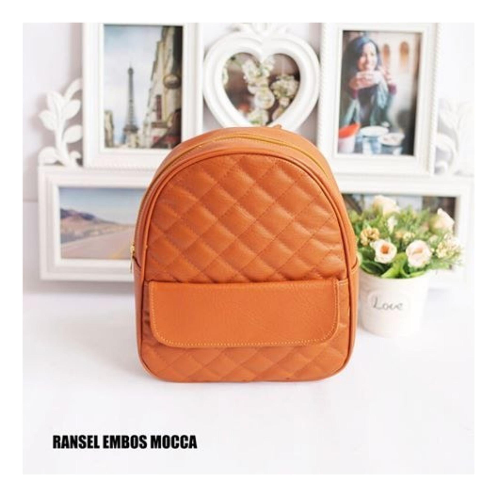 EL PIAZA Mini Ransel Backpacks Kulit - Ransel Mini Ransel Lucu Tas Ransel Sling Bag Tas
