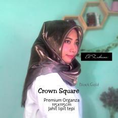 El Zahrana Hijab Crown Square -  Kerudung Segi Empat - Jilbab Polos Premium Organza