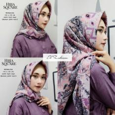 Diskon El Zahrana Kerudung Segi Empat Jilbab Segi Empat Jilbab Motif Monalisa Premium Hermess Branded