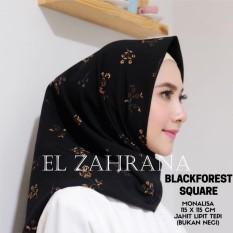 El Zahrana Kerudung Segi Empat - Jilbab Segi Empat - Jilbab Motif Premium - Monalisa