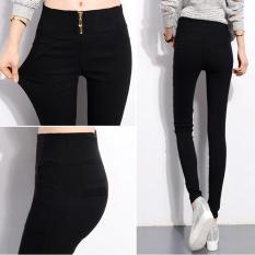 Spesifikasi Elastisitas Harem Celana Ikat Tinggi Zipper Cotton Hitam Celana Kaki Plus Ukuran S 4Xl Hitam Beserta Harganya