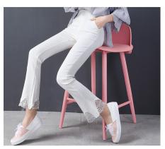 Harga Celana Cutbray Jahitan Renda Bottoming Celana Musim Gugur Dan Musim Dingin Baru Putih Baju Wanita Celana Wanita Seken