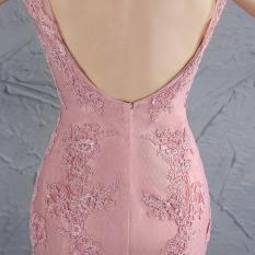 Tips Beli Baru Gaun Pengantin Mermaid Perempuan Gaun Malam Rok Gambar Warna Bagian Ritsleting