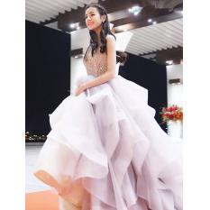 Jual Elegan Korea Fashion Style Baru Pesta Rok Gaun Gaun Malam Abu Abu Online Tiongkok