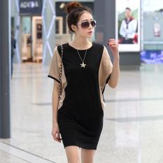 Toko Elegan Korea Fashion Style Rajutan Kemas Pinggul Slim Rok Dalaman Musim Panas Lengan Pendek Gaun Nasi Putih Baju Wanita Dress Wanita Gaun Wanita Di Tiongkok