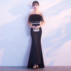 Review Wanita Perjamuan Kecil Gaun Malam Rok Hitam