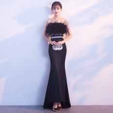 Harga Hemat Wanita Perjamuan Kecil Gaun Malam Rok Hitam