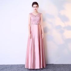 Elegan Perempuan Baru Perjamuan Pesta Baju Pelayanan Gaun Malam (Pasta Kacang Merah Bedak)