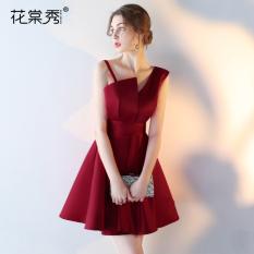 Elegan Baju Pelayanan Perempuan Baru Perjamuan Gaun Mempelai Wanita (Arak Anggur Warna)