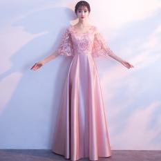 Elegan Gaun Malam Perjamuan Busana Pendamping Pengantin Rok Korea Perempuan