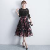 Diskon Gaun Elegan Musim Panas Wanita Hitam Hitam Oem Tiongkok